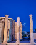 Athens Greece, Hadrians library columns Royalty Free Stock Photos