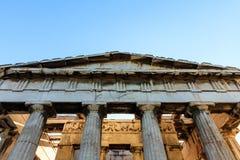 Athens, Greece. Hephaestus temple on blue sky background Stock Photo