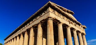 Athens, Greece. Hephaestus temple on blue sky background Stock Image