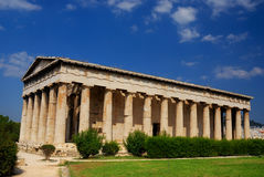 athens greece hephaestustempel Arkivfoton