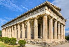 athens greece hephaestustempel Arkivbilder
