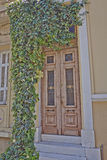 Athens Greece, house entrance and ivy plant Royalty Free Stock Image