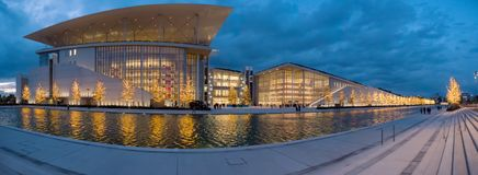 Foundation Stavros Niarchos in Athens,Greece royalty free stock photography