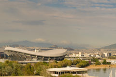 Athens, Greece 7 Jume 2016. Landscape View of Piraeus in Greece and the SEF stadium (stadium of piece and liberty) Royalty Free Stock Photography