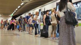 ATHENS - GREECE, JUNE 2015: city metro view stock footage