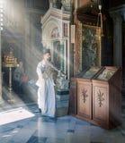 Metropolitan Cathedral of the Annunciation, Mitropoli. Metropoleos square. Athens, Greece. Stock Photo