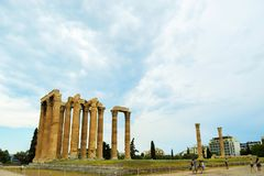 Temple of Olympian Zeus. royalty free stock image