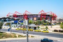 Athens, Greece - 26.04.2019: Karaiskakis stadium - football stadium of Olympiacos FC located in Piraeus royalty free stock image