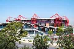 Athens, Greece - 26.04.2019: Karaiskakis stadium - football stadium of Olympiacos FC located in Piraeus royalty free stock photography