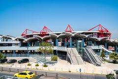 Athens, Greece - 26.04.2019: Karaiskakis stadium - football stadium of Olympiacos FC located in Piraeus stock photography