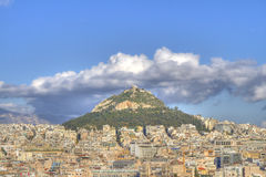 athens greece lycabettusmontering Royaltyfri Fotografi
