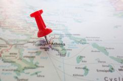 Athens Greece map Royalty Free Stock Images