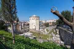 Athens, Greece - March 4, 2017: The Bath-house and tower of the winds. `Loutro ton anemon``, archaeological place Royalty Free Stock Image