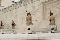Athens, Greece, 30 May 2015. Evzones guard change in front of parliament of Greece. Stock Photography