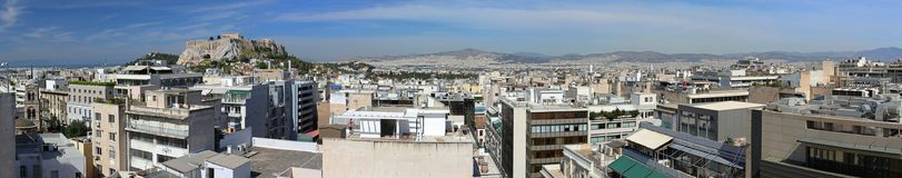 Panorama Athens Royalty Free Stock Photos