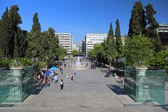 Syntagma Square Athens Stock Photography