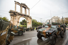 ATHENS, GREECE - During Military parade for the Greece Independence Day is an annual national holiday Stock Image