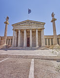 Athens Greece, the national academy neoclassical facade Royalty Free Stock Photos