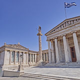 Athens Greece, the national academy neoclassical facade Stock Photography
