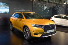ATHENS, GREECE - NOVEMBER 14, 2017: DS 7 Crossback at Aftokinisi-Fisikon 2017 Motor Show. The DS 7 Crossback is a premium segment SUV from the French automaker Stock Image
