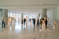 Athens, Greece - November 15, 2017: Interior View of the New Acropolis Museum in Athens. Designed by the Swiss-French Stock Photography