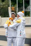Ceremony of the Olympic Flame for Winter Olympics Royalty Free Stock Image