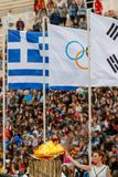 Ceremony of the Olympic Flame for Winter Olympics Royalty Free Stock Photos