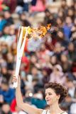 Ceremony of the Olympic Flame for Winter Olympics Stock Images