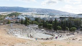 Athens, Greece - October 24, 2017: Panoramic view from the south Royalty Free Stock Photography