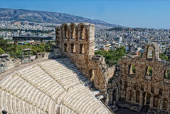 athens Greece odeon theatre Obraz Stock