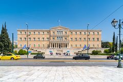 Athens, Greece - 27.04.2019: Official residence of the President of the Hellenic Republic royalty free stock photo