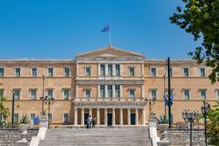 Athens, Greece - 27.04.2019: Official residence of the President of the Hellenic Republic. Designed by Ernst Ziller, built in a neoclassical style in the years stock photography
