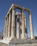 Athens Greece, olympian Zeus ancient temple Stock Photos