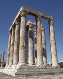 Athens Greece, olympian Zeus ancient temple Stock Photos