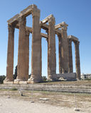 Athens Greece, olympian Zeus ancient temple Royalty Free Stock Photos