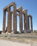 Athens Greece, olympian Zeus ancient temple Royalty Free Stock Photos