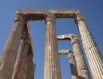 Athens Greece, Olympian Zeus temple Stock Photography