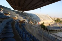 Faliro Olympic Beach Volleyball Centre - Faliro Coastal Zone Olympic Complex. 14 years after summer Olympic games of Athens 2004. Athens - Greece organized stock photo