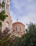 Athens, Greece, Panaghia Chrysospiliotisa old church Stock Images