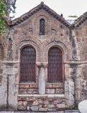 Athens Greece, Panaghia Kapnikarea church detail Stock Photos