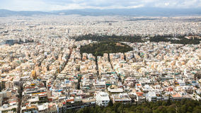 ATHENS, GREECE - Panorama of Athens from Lycabettus. Royalty Free Stock Photos