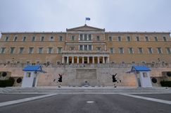 ATHENS GREECE, THE PARLIAMENT stock photo