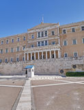 Athens, Greece, the parliament on Syntagma square Stock Images