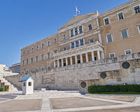 Athens, Greece, the parliament on Syntagma square Royalty Free Stock Photography