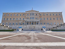 Athens, Greece, the parliament on Syntagma square Royalty Free Stock Photo