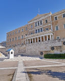 Athens, Greece, the parliament on Syntagma square Stock Photo