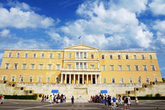 Athens, Greece, the parliament on Syntagma square Royalty Free Stock Image