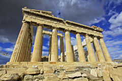 Athens, Greece Parthenon. The Parthenon at the Acropolis in Athens, Greece Royalty Free Stock Photos
