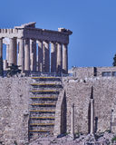 Athens, Greece, Parthenon ancient temple Royalty Free Stock Images