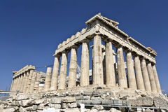 athens greece parthenontempel Royaltyfri Bild